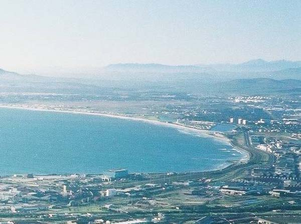 Milnerton Lagoon from Table Mountain